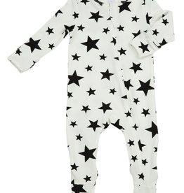 Stars Zipper Footie 6-9M