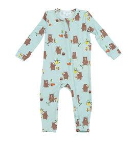 Baby Bears Zipper Footie 0-3M