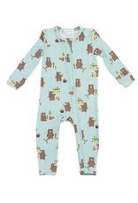 Baby Bears Zipper Footie 3-6