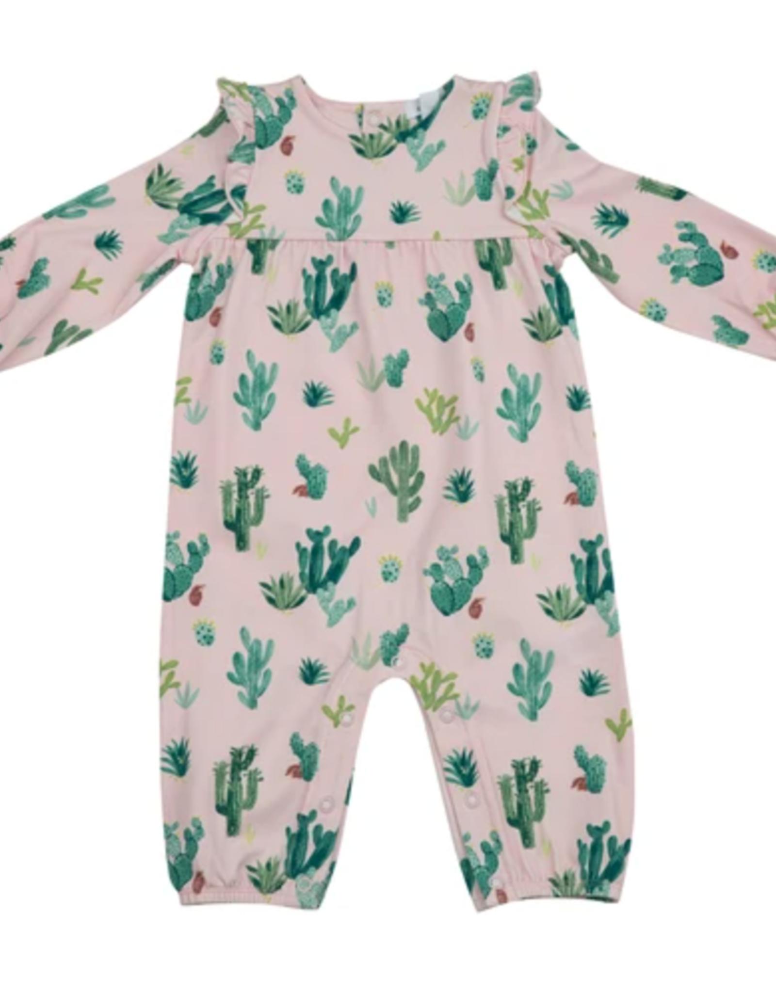 Cactus Ruffle Sleeve Romper 6-12M
