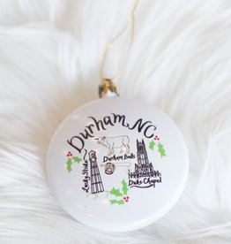 Emily Brooks EB Durham Map Ornament