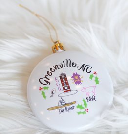 Emily Brooks EB Greenville Map Ornament