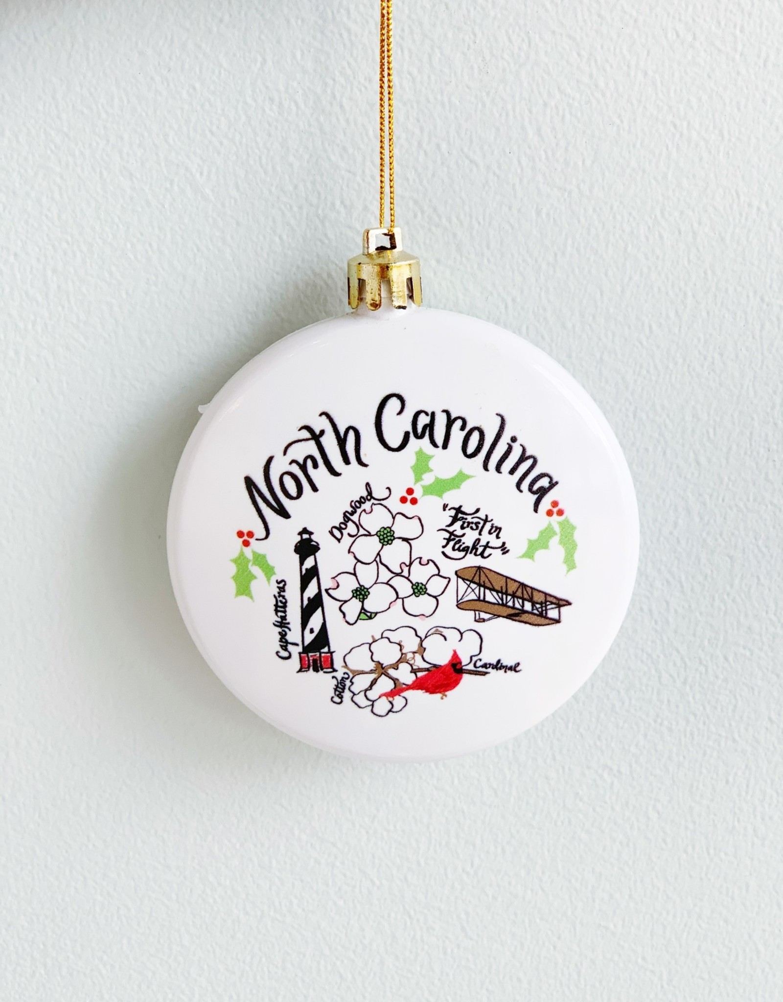 Emily Brooks EB NC Map Ornament