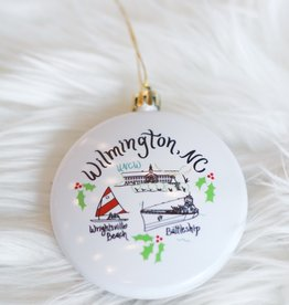 Emily Brooks EB Wilmington Map Ornament