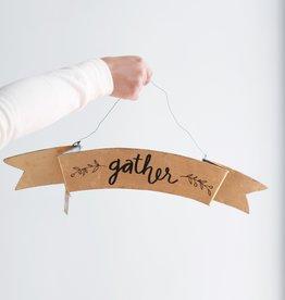 Gather Gold Tin Sign