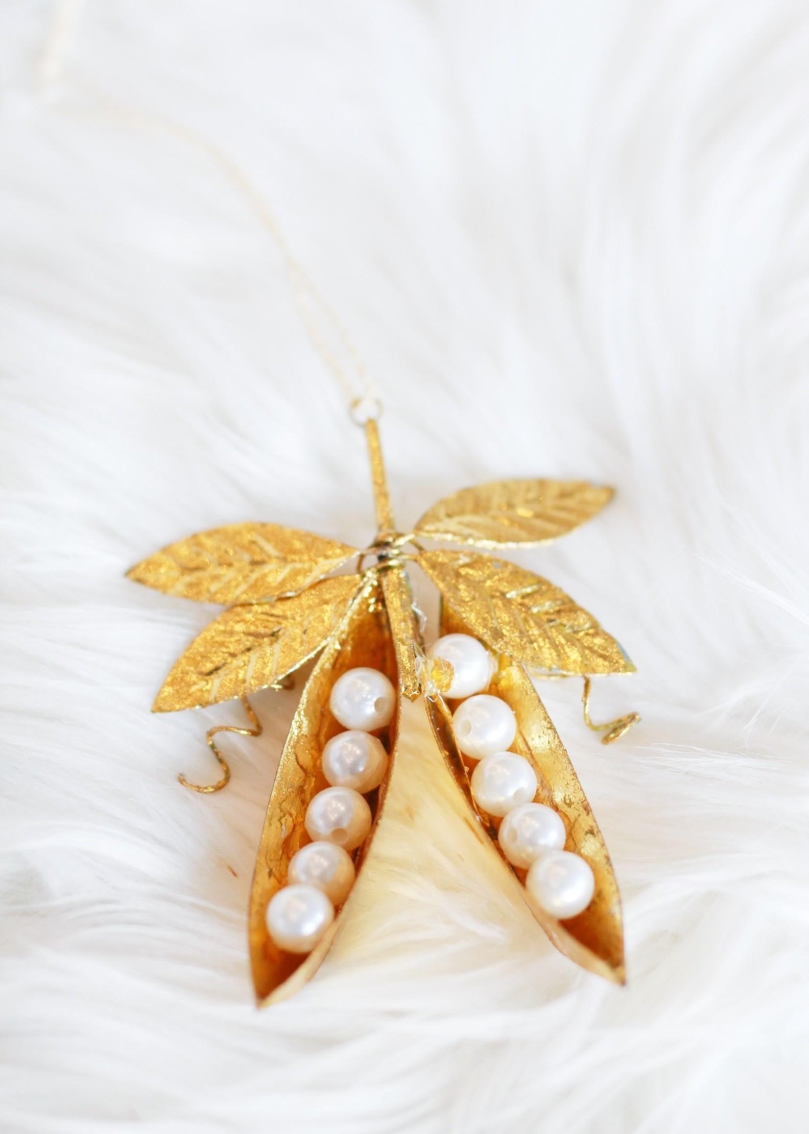 Gilded Garden Peas Ornament