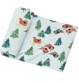 Winter Bison Swaddle Blanket 45x45