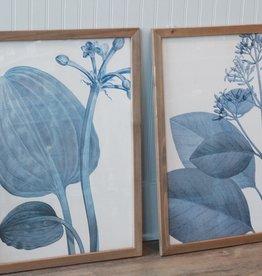 Blue Botanical Print Assort.