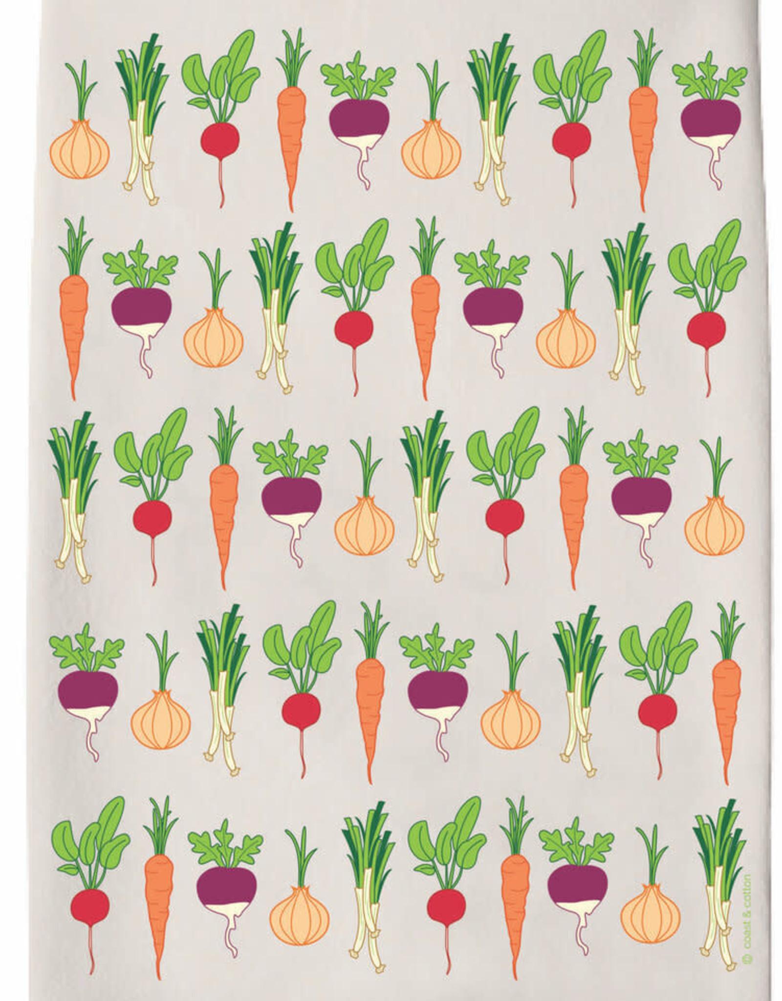 Vegetable Garden Tea Towel
