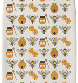Honey Bees Tea Towel