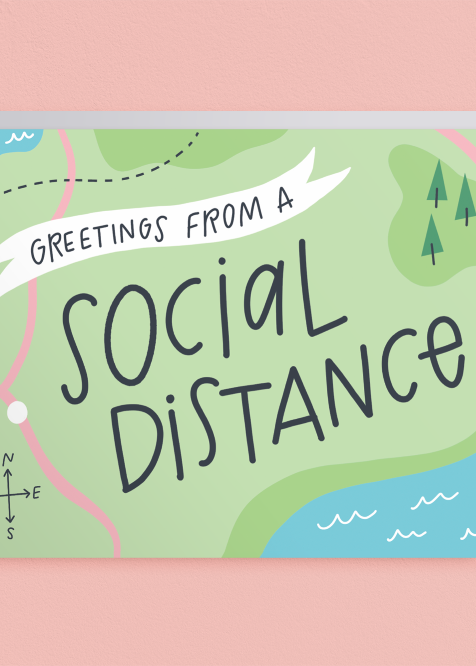 Happy Tines Social Distance Card