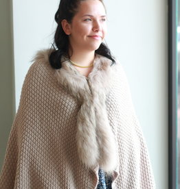 Wool/Fur Sweater Wrap