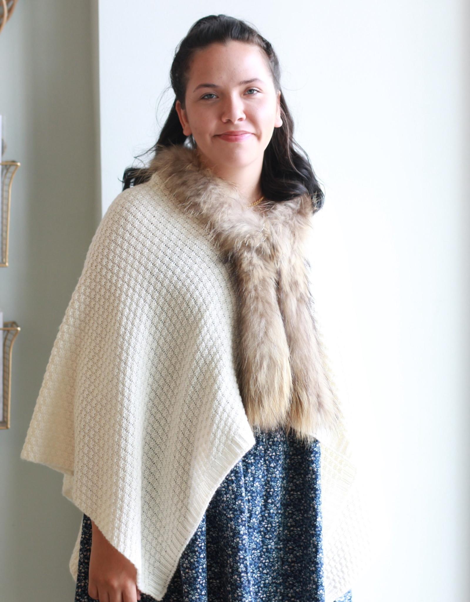 Wool/Fur Sweater Wrap