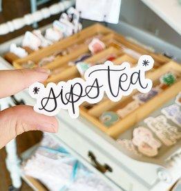 Elyse Breanne Design Sips Tea Sticker