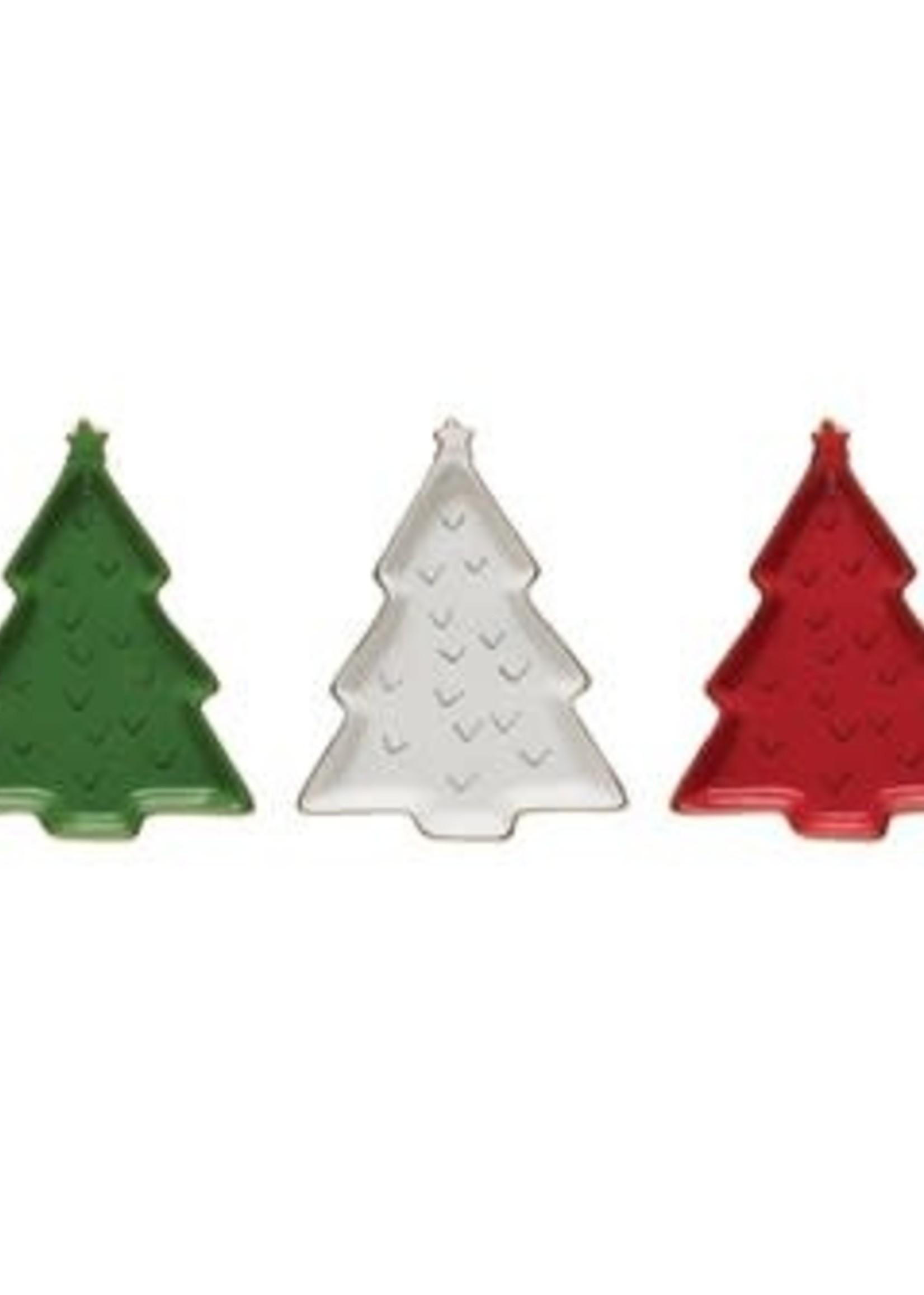 Christmas Stoneware Tree Dish