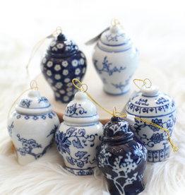 Classic Blue Ginger Jar Ornaments