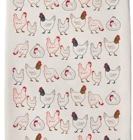 Chickens Tea Towel