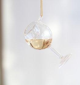 Glass Of Wine Chardonnay Ornament