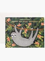 Sloth Belated Birthday Card