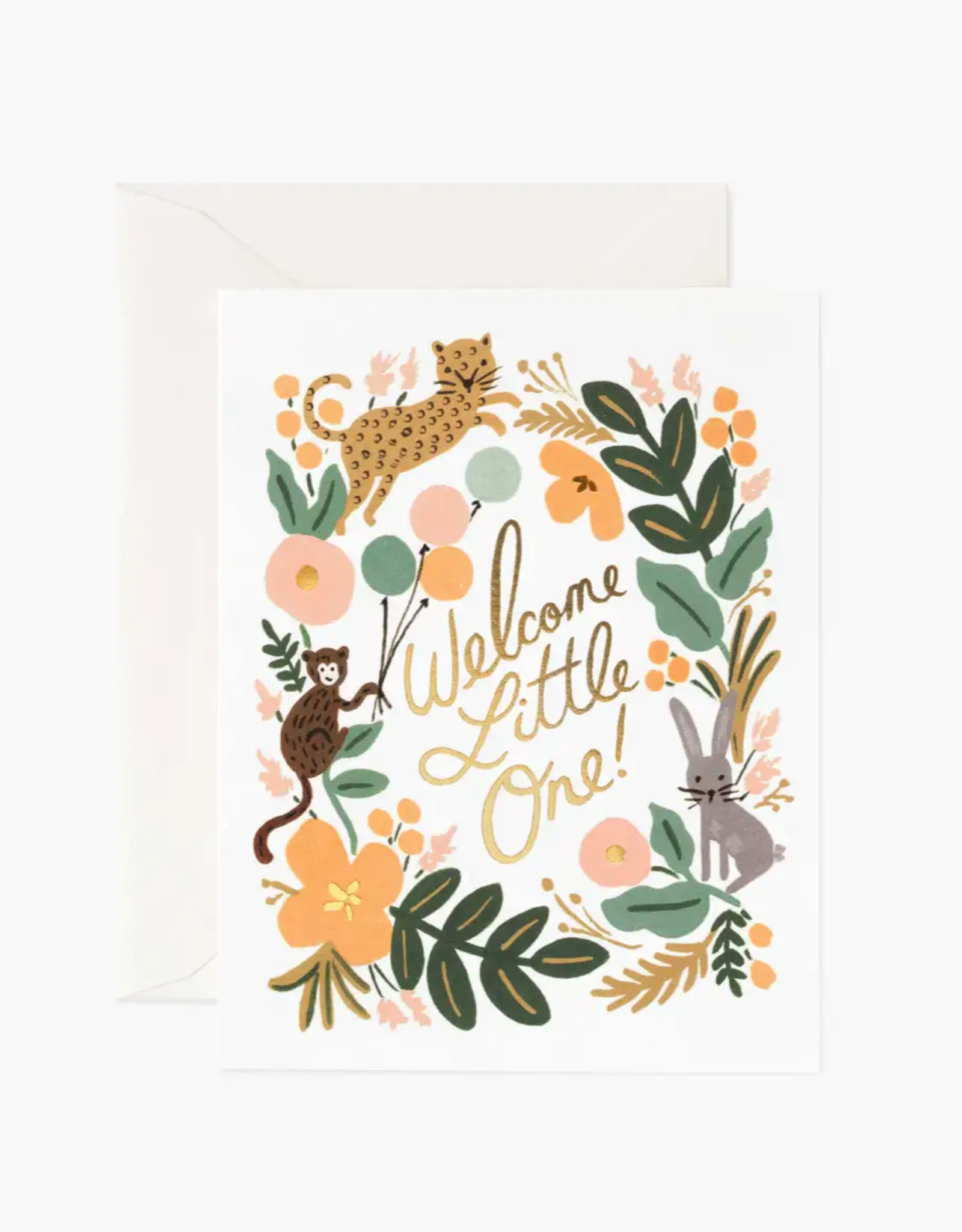 Menagerie Baby Card