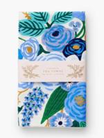 Garden Party Blue Tea Towel