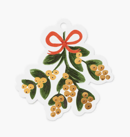 Pack of 8 Mistletoe Die-Cut Gift Tags