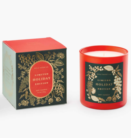 Holiday Cranberry Balsam & Cedar Glass Candle
