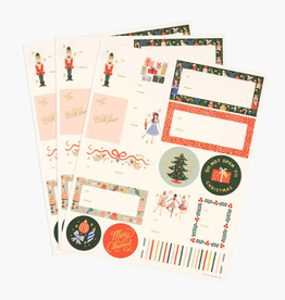 Pack of 3 Nutcracker Stickers & Lables