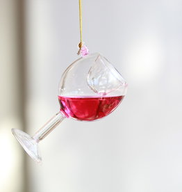 Glass Of Red Wine Ornament