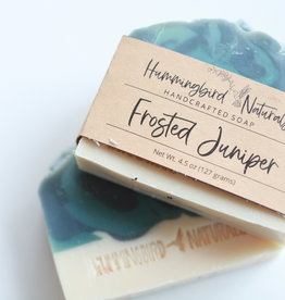 Hummingbird Naturals Frosted Juniper Bar Soap