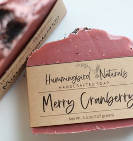 Hummingbird Naturals Merry Cranberry Bar Soap