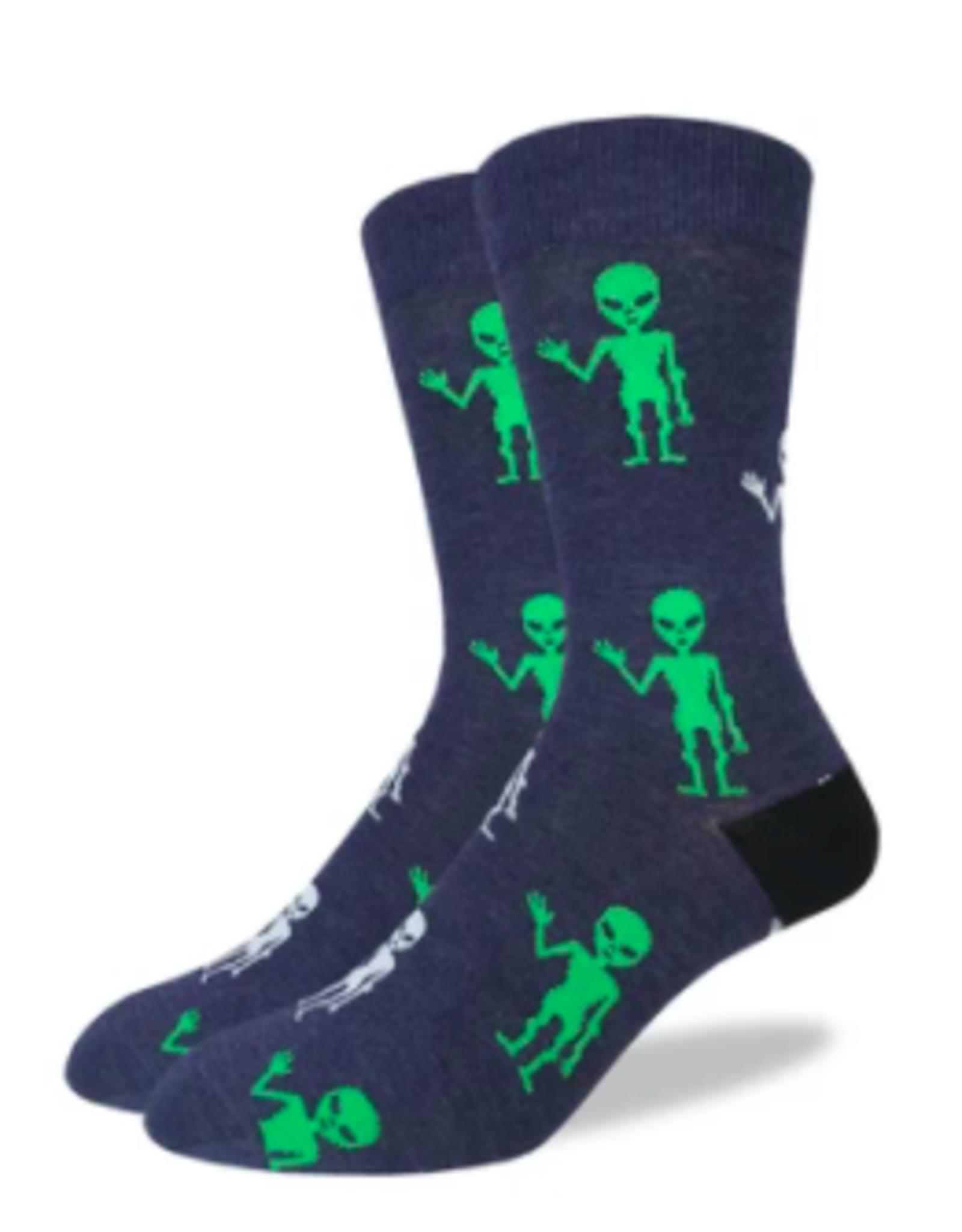 Good Luck Sock Aliens Socks