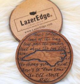 LazerEdge Long Leaf Pine Coaster