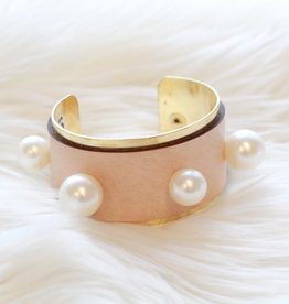 Orijinal Orijinal Pearl Brass Cuff