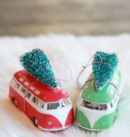 Glass Van Ornament