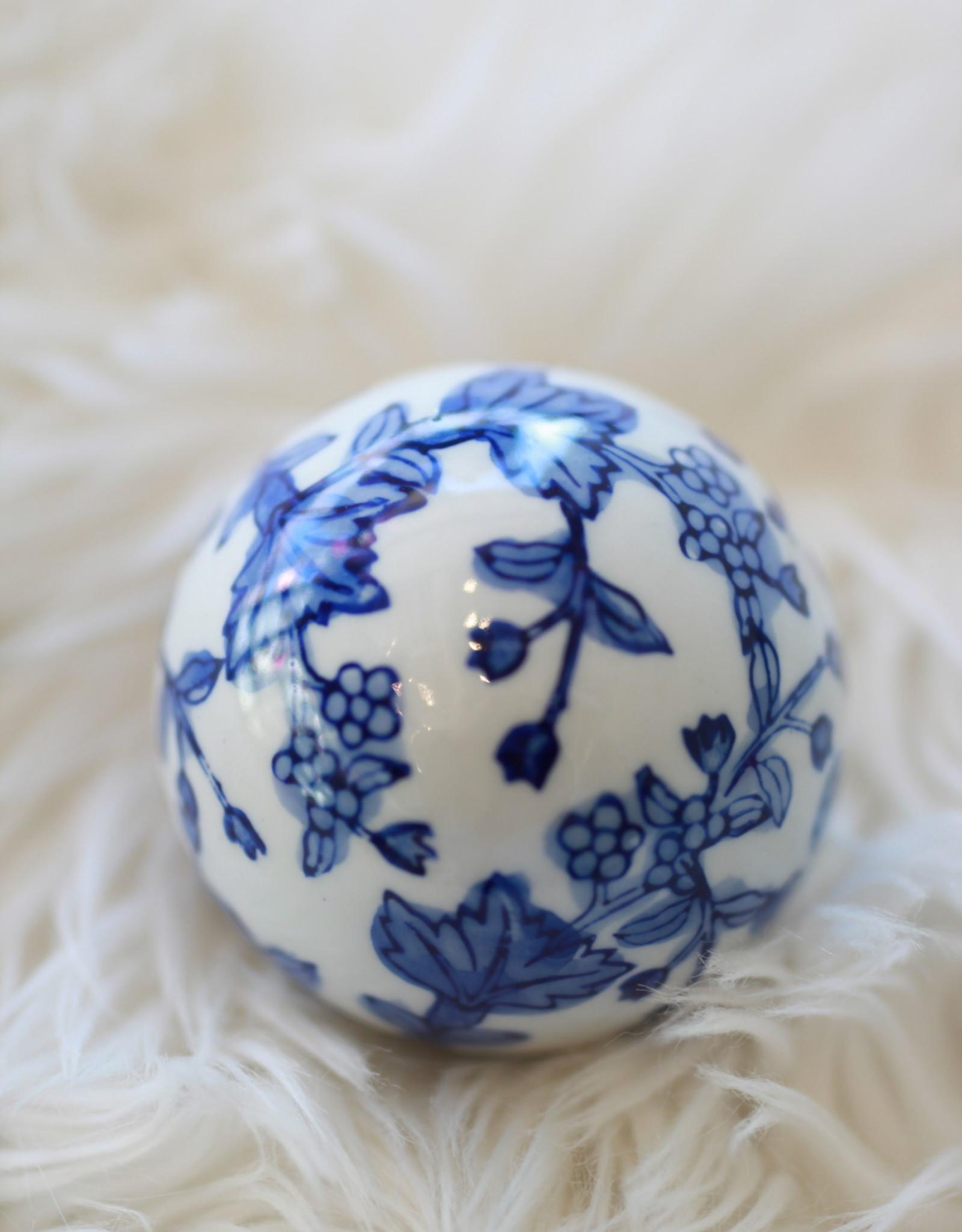 Classic Blue Ceramic Orb