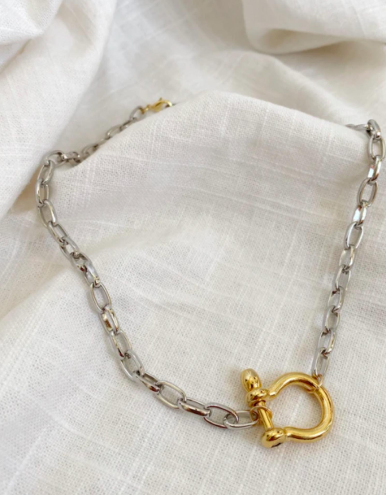 Bofemme Bofemme Celine Mixed Metal Necklace
