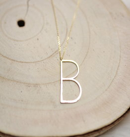 Allison Conway AC Oversized Initial Necklace B
