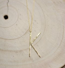 Allison Conway AC Oversized Initial Necklace K