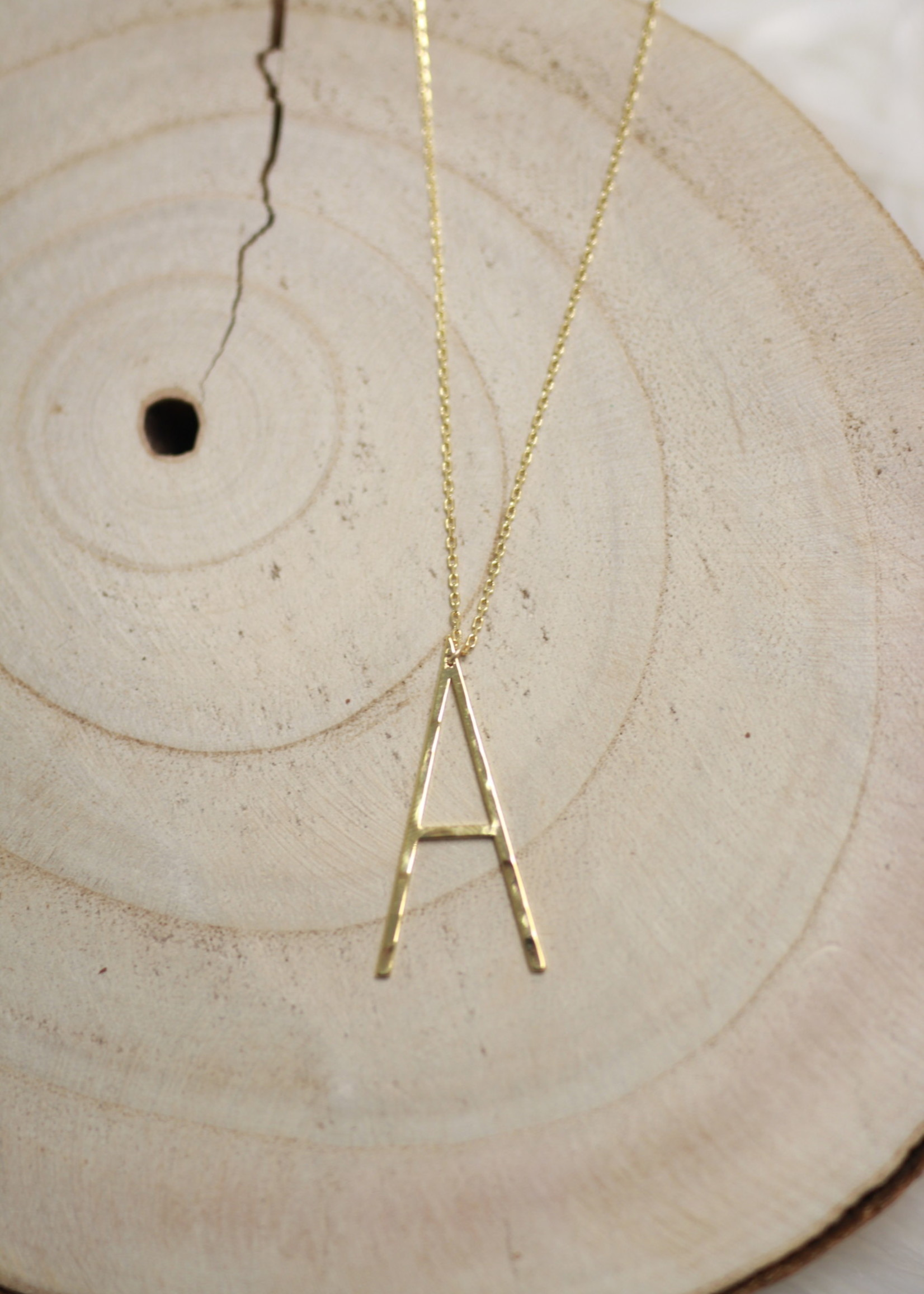 Allison Conway AC Oversized Initial Necklace A