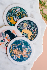 One & Only Paper Assorted Big Cat Coasters