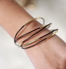 Erin McDermott Trunk Show B2 Brown &  Gold Bracelet