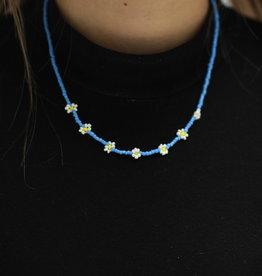 Erin McDermott Trunk Show N4 Blue Daisy Necklace