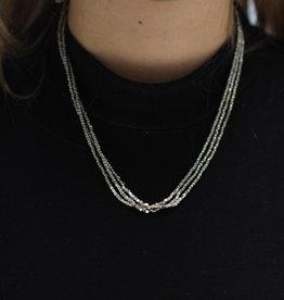 Erin McDermott Trunk Show N5 Gunmetal Beaded Necklace