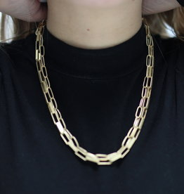 Erin McDermott Trunk Show N12 Thick PaperClip Necklace