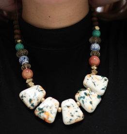 Erin McDermott Trunk Show N18 Orange & Turquoise Necklace