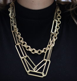 Erin McDermott Trunk Show N21 Thick PaperClip Chain Circle Necklace