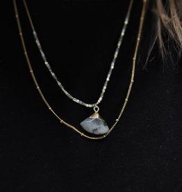 Erin McDermott Trunk Show N25 Gray Shades Necklace