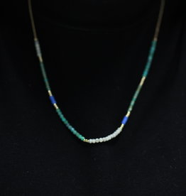 Erin McDermott Trunk Show N27 Shades of Blue Necklace