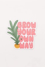 Cardinal Directions CD Stickers- Grow Your Own Way
